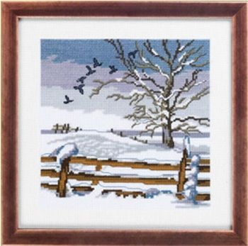 "Cross-stitch kit Permin ""Birds"""