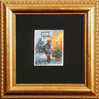 "Cross-stitch kit Permin ""Boy to the window"""