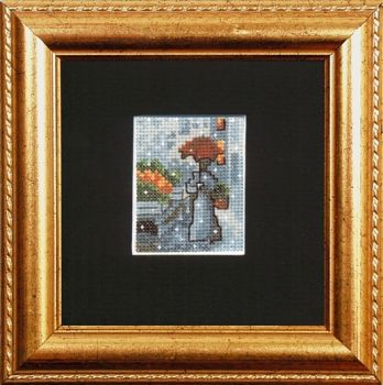 "Cross-stitch kit Permin ""Woman with umbrella"""
