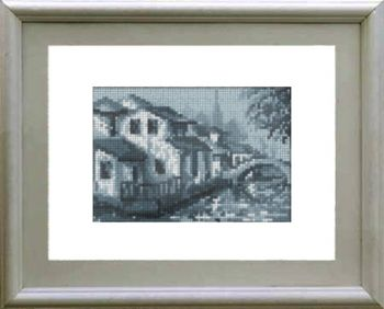 Cross-stitch kit 20003 The house by the river