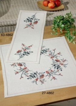 "Cross-stitch kit Permin ""Tablecloth-flowers"""