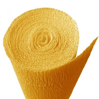 Crepe paper sunny yellow