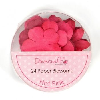 Paper flowers 24 pc. Hot Pink
