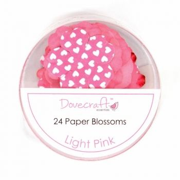 Paper flowers 24 pc. Light Pink