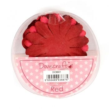 Paper flowers 24 pc. Red