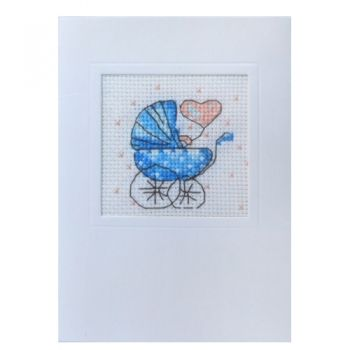 Cross-stitch kit card 39401 - Baby boy, Ravel
