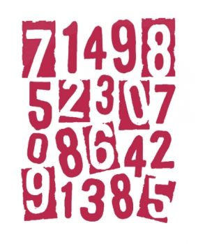 Stencil for decoration - Art numbers, Stamperia KSTD005