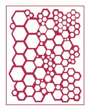 Stencil for decoration - Hexagonal holes, Stamperia KSTD009