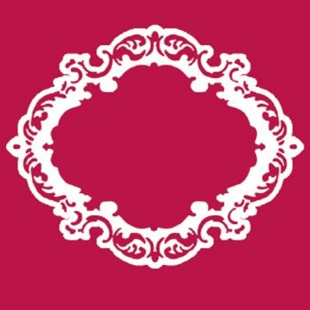 Stencil for decoration - Lace frame, Stamperia  KSA007