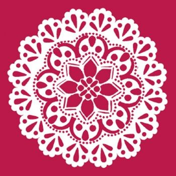 Stencil for decoration - Circle lace, Stamperia  KSA009