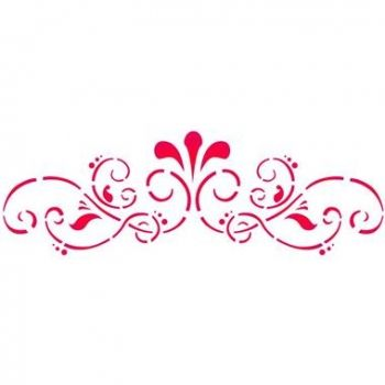 Stencil for decoration - Floral frame, Stamperia  KSB125