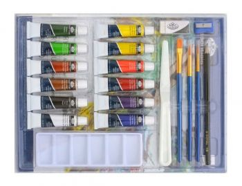 Acrylic paints kit Royal Langnickel - 12 colous in cardboard box