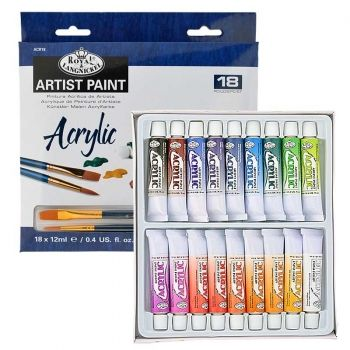 Acryl paints 18 colours Royal Langnickel