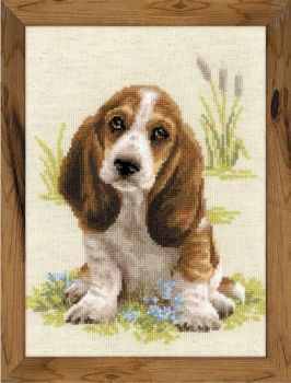 Cross-stitch kit Riolis 1578 - Baby Basset