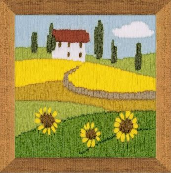Cross-stitch kit Riolis 1571 - Sunflowers, long stitch