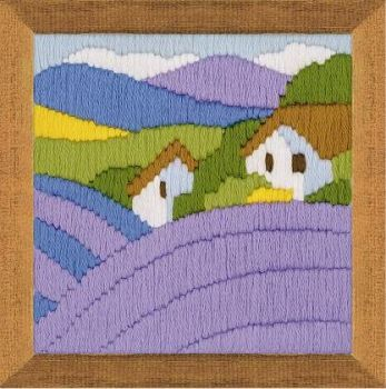 Cross-stitch kit Riolis 1570 - Lavender, long stitch