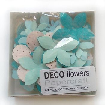 "Paper flowers 40 pc. ""Peacock turquoise"""