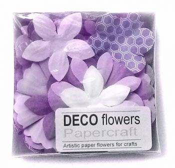 "Paper flowers 40 pc. ""Lavender"""