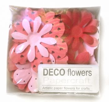 "Paper flowers 40 pc. ""Strawberry juice"""