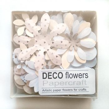 "Paper flowers 40 pc. ""Ivory"""