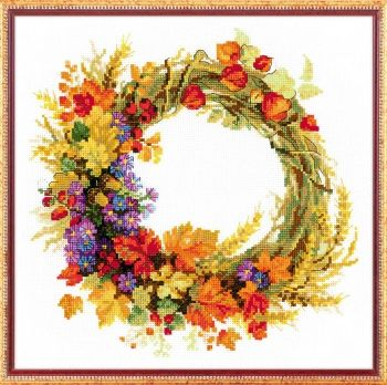 "Cross-stitch kit Riolis  1537 ""Wreath with wheat"""