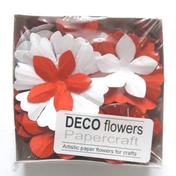 "Paper flowers 40 pc. ""Summer favors"""