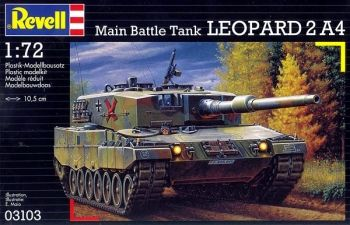 Model of a military tank Leopard 2А4 - Revell