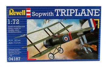 Model of a military aircraft Sopwith Triplane