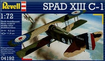 Model of a military aircraft Spad XIII C-1 - Revell