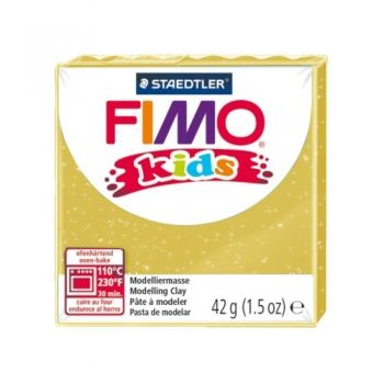 Polimer clay Fimo Kids glitter gold