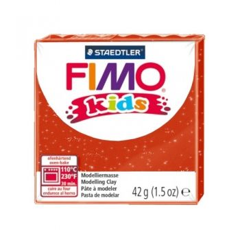 Polimer clay Fimo Kids glitter red