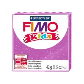 Polimer clay Fimo Kids glitter pink