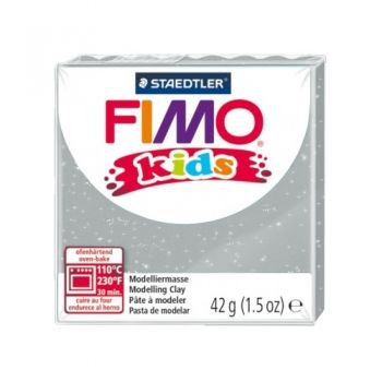 Polimer clay Fimo Kids glitter silver