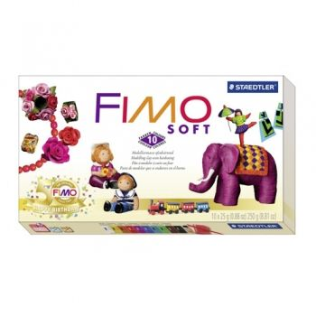Polimer clay Fimo Soft 50 Years Fimo 10 colours