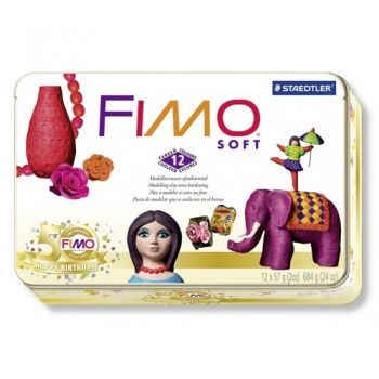 Polimer clay Fimo Soft 50 Years Fimo 12 colours
