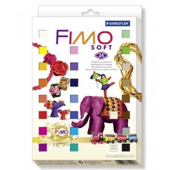 Polimer clay Fimo Soft 50 Years Fimo 24 colours