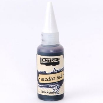 Alcohol Ink Media ink 20ml - Black current P21024