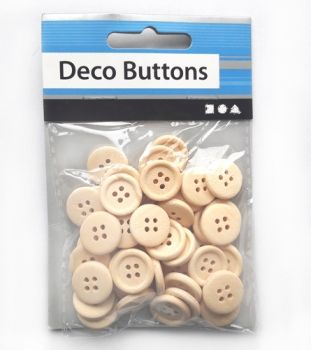 Wooden buttons set of 50 pieces