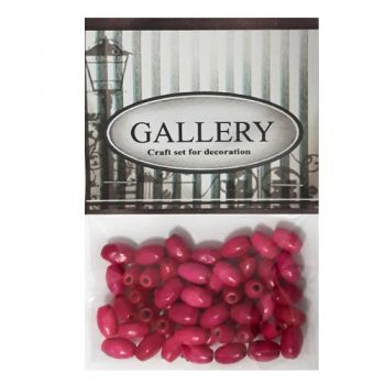 Beads Gallery wood fucsia
