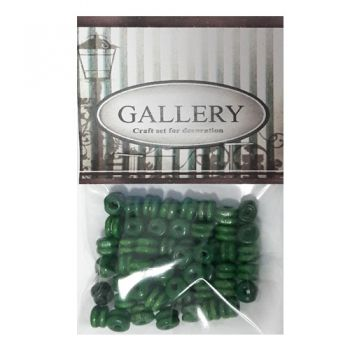 Beads Gallery flat double wood green