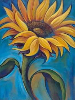 Mosaic with crystals - Sunflower