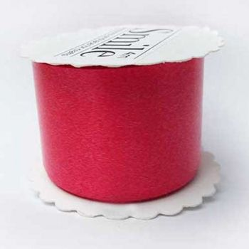 Ribbon for packing red glossy