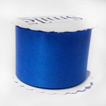 Ribbon for packing dark blue glossy