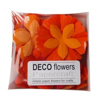 "Paper flowers 40 pc. ""Coral"""