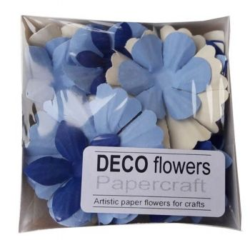 "Paper flowers 40 pc. ""Sky blue"""
