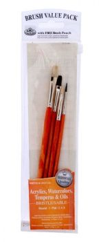 Paintbrushes set white bristle RSET-9116 Royal Langnickel - 4pc.