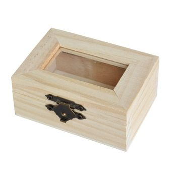 Wooden box with glass lid - Chenfei 1067