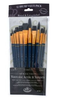 Paintbrushes set RSET-9302 - Royal Langnickel - 12pc.