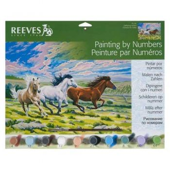Paint by numbers acrylic kit - Galloping horses
