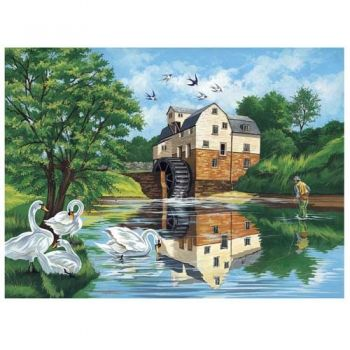 Paint by numbers acrylic kit - The old mill